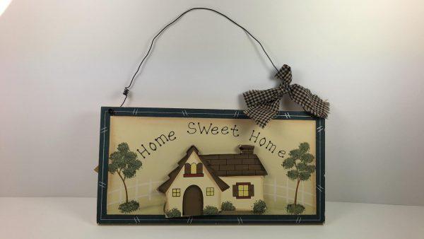 Decoratief bord - Home Sweet Home met zwarte kader