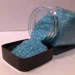 Decoratieve steentjes - Blauw Glasvlokken