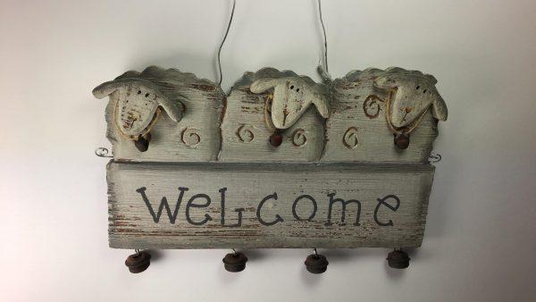 Decoratief bord – Welcome met schapen